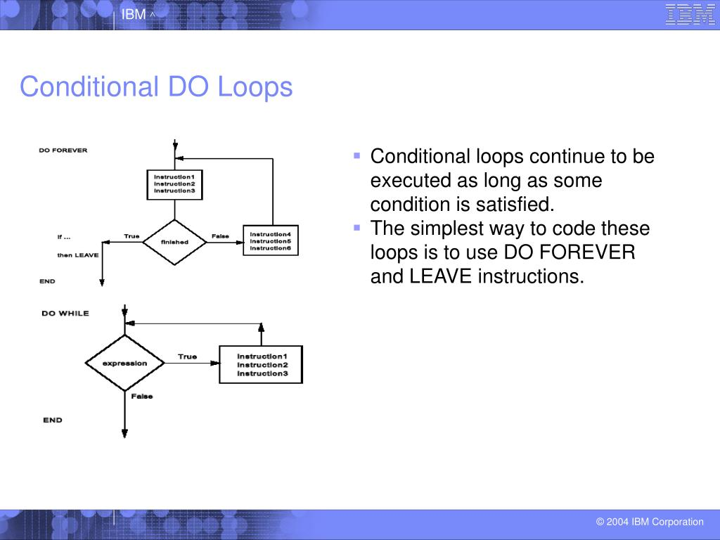 Conditional DO Loops