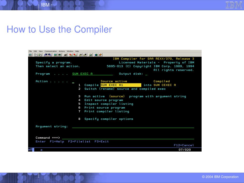 How to Use the Compiler