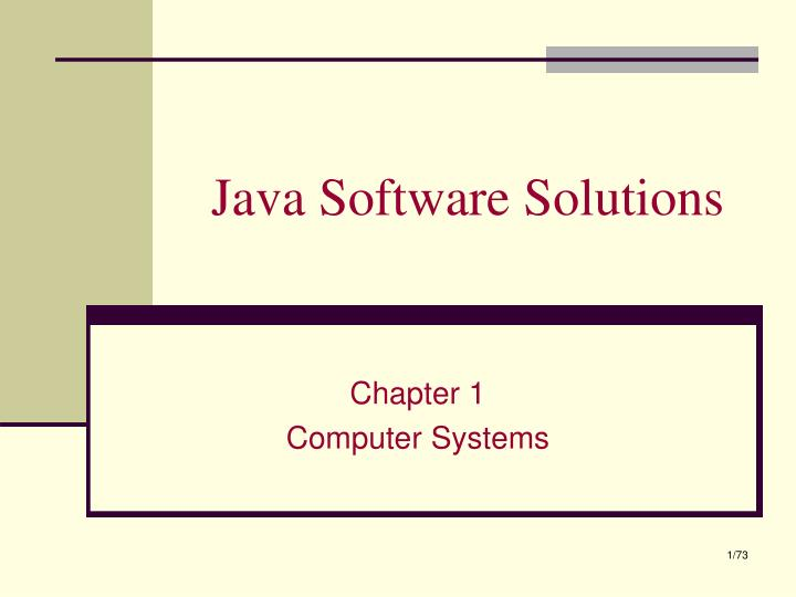 java software solutions n.