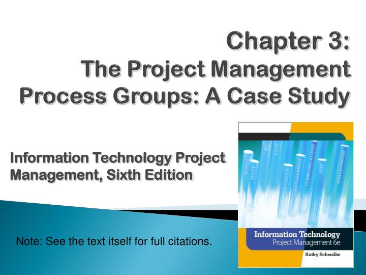 chapter 3 the project management process groups a case study n.