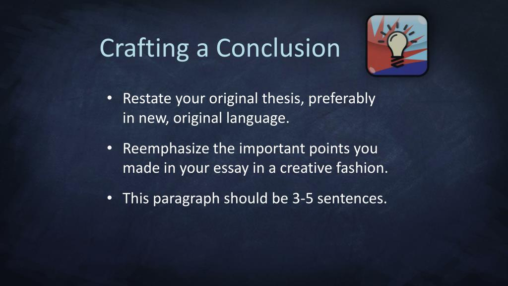 Crafting a Conclusion