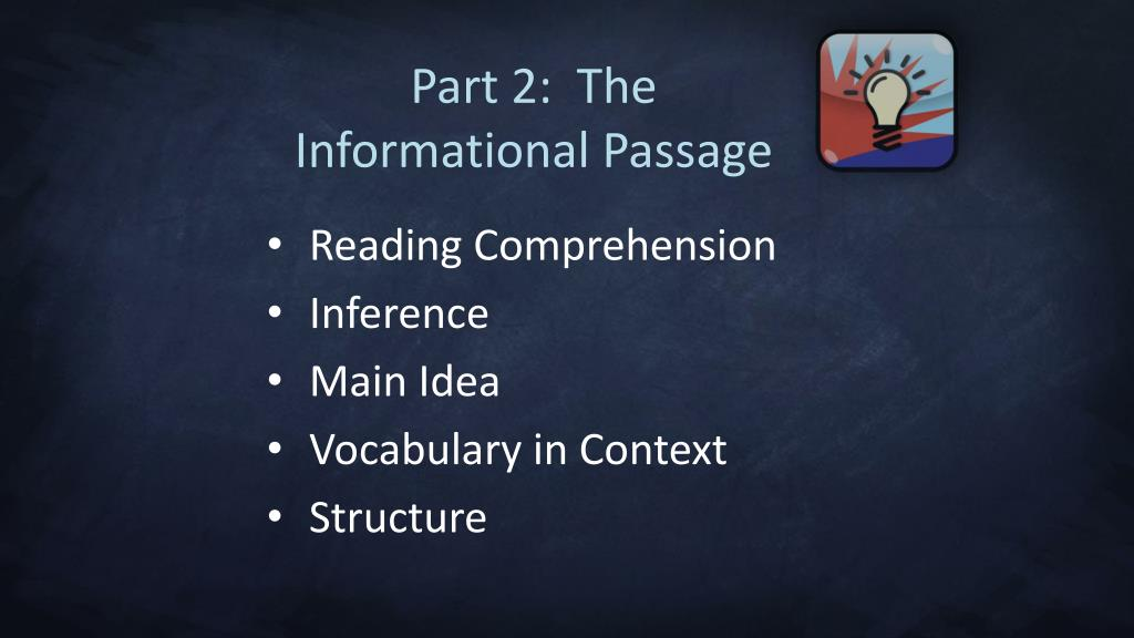 Part 2:  The Informational Passage