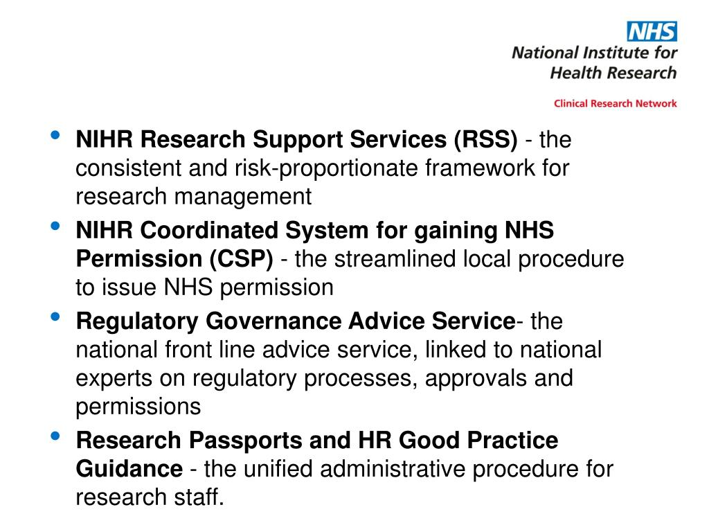 NIHR Research Support Services (RSS)