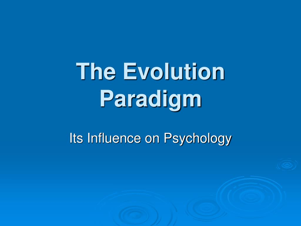 evolution of cognitive psychology paper Essays in cognitive psychology is designed to meet the need for rapid uniquely describes the evolution of the cognitive perspective is also.