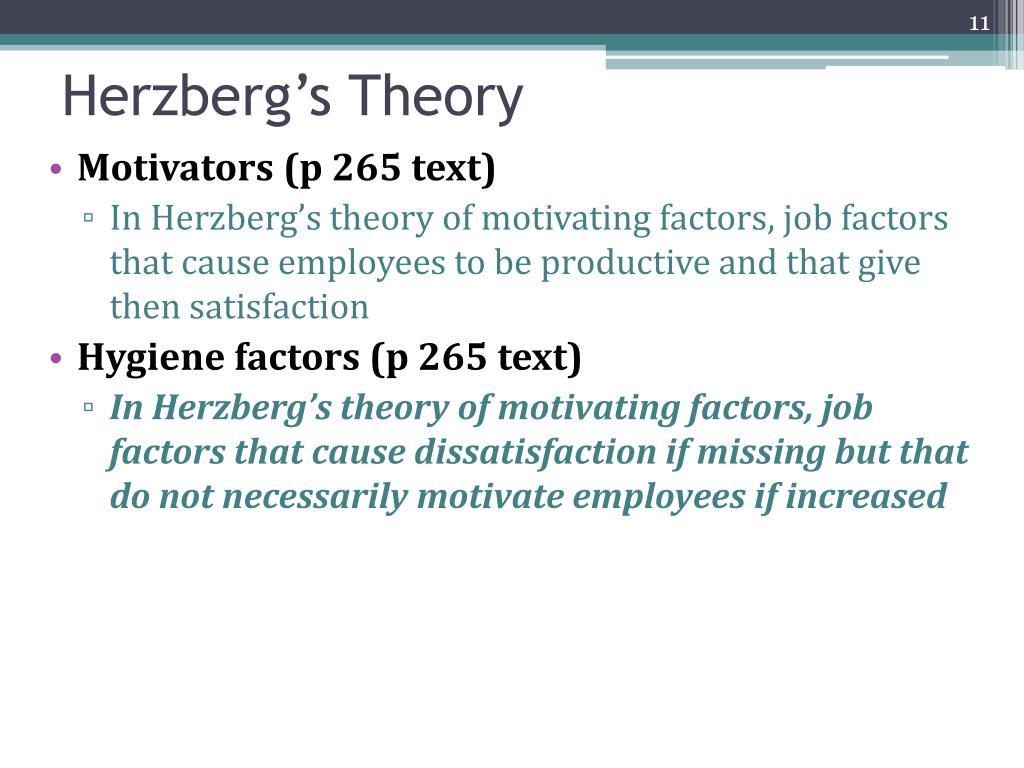 Motivators (p 265 text)