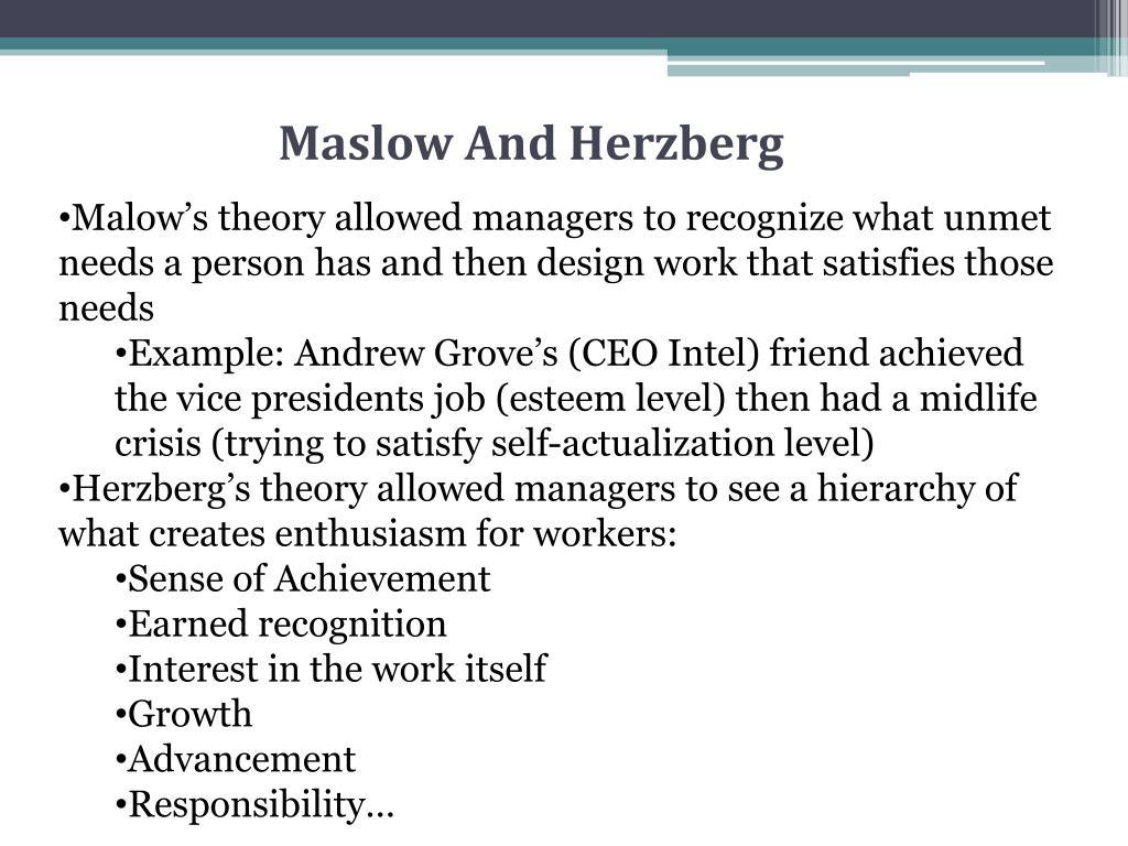 Maslow And Herzberg