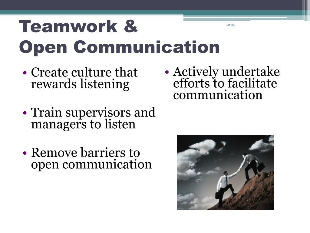 Create culture that rewards listening