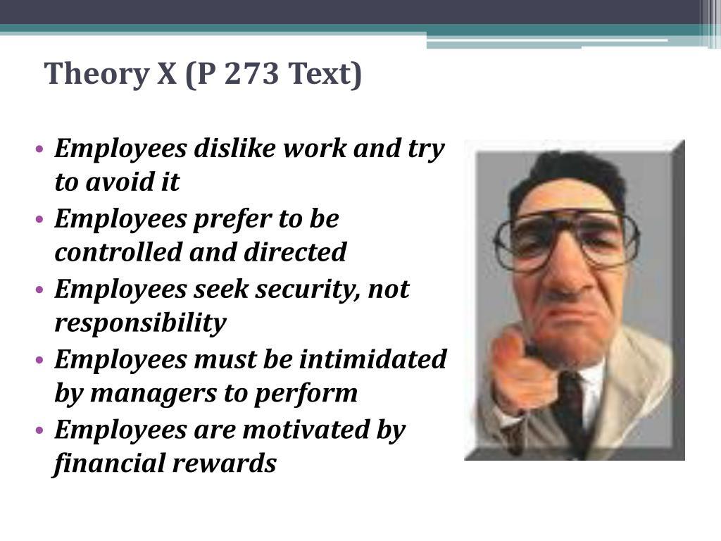Theory X (P 273 Text)