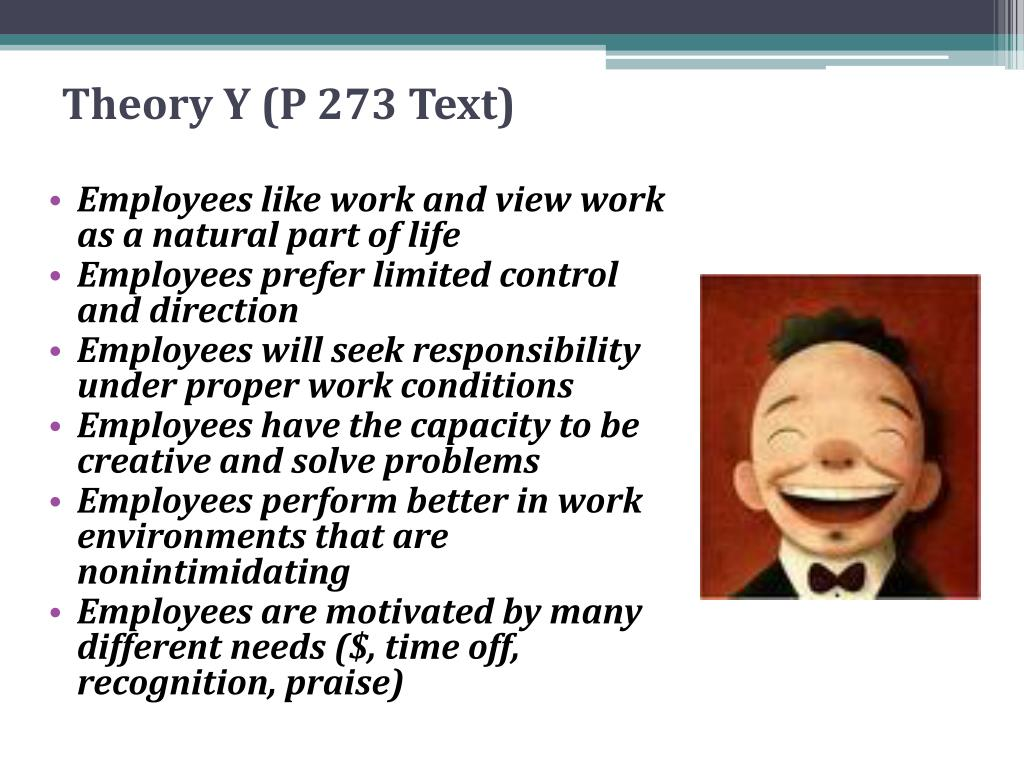 Theory Y (P 273 Text)