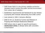 doe order 5400 5 draft guide 441 1 xx