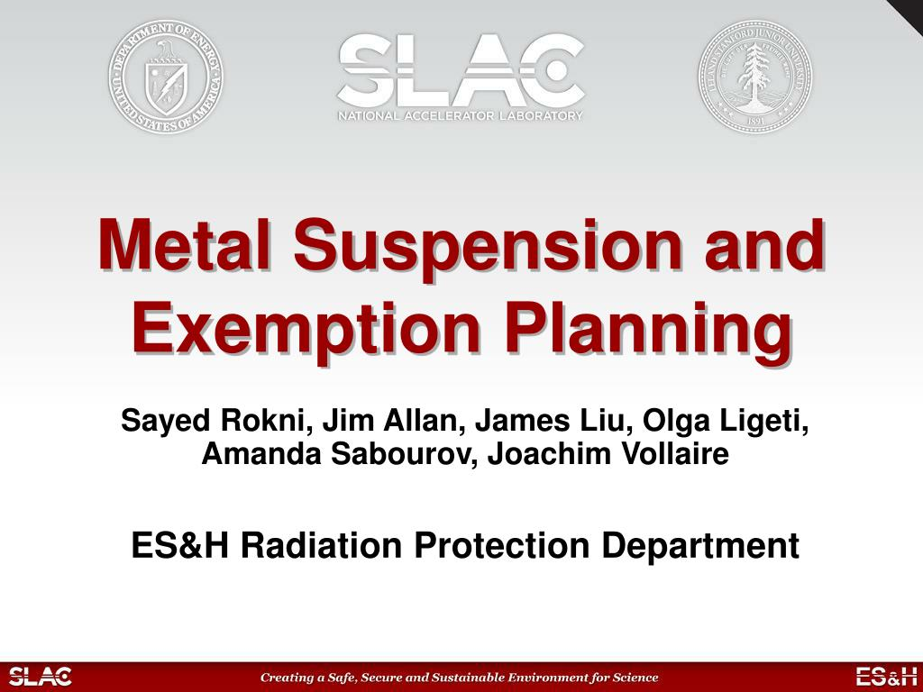 metal suspension and exemption planning