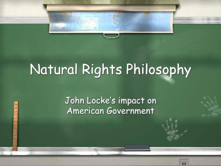 natural rights philosophy n.