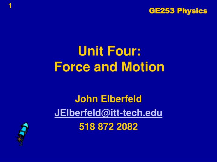 unit four force and motion n.