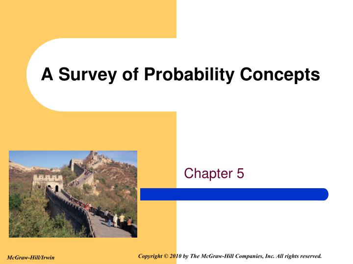 a survey of probability concepts n.