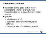 effectiveness coverage