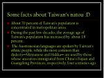 some facts about taiwan s natou d
