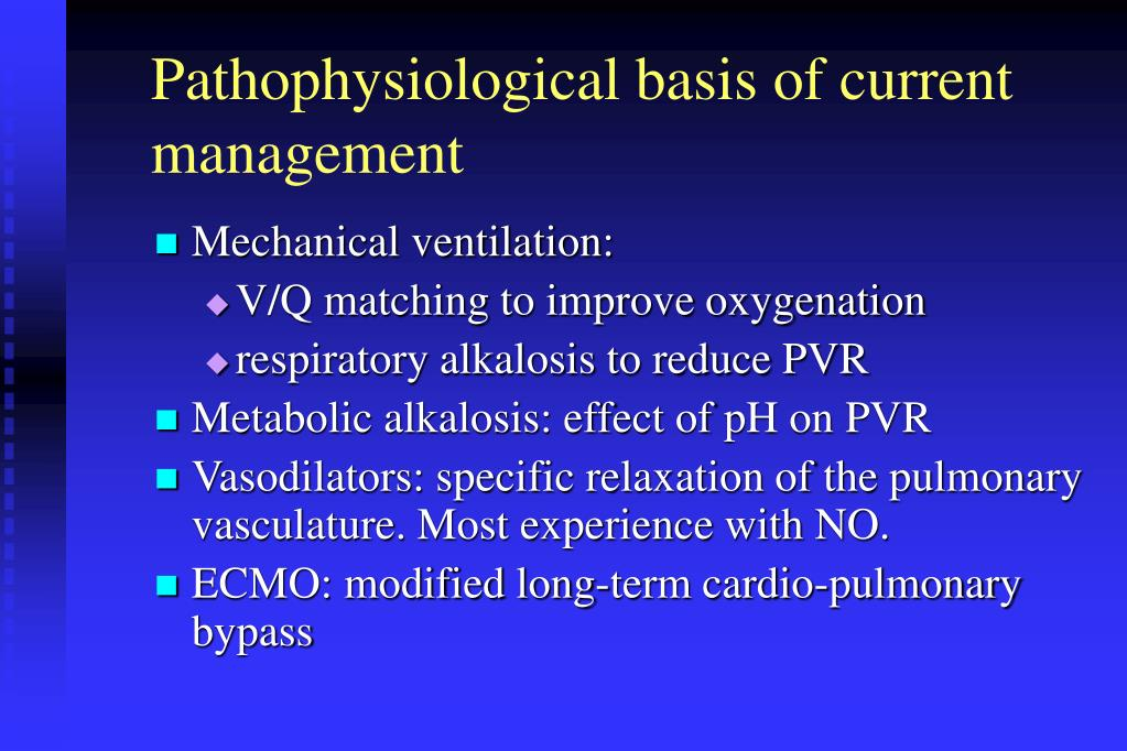 Pathophysiological basis of current management