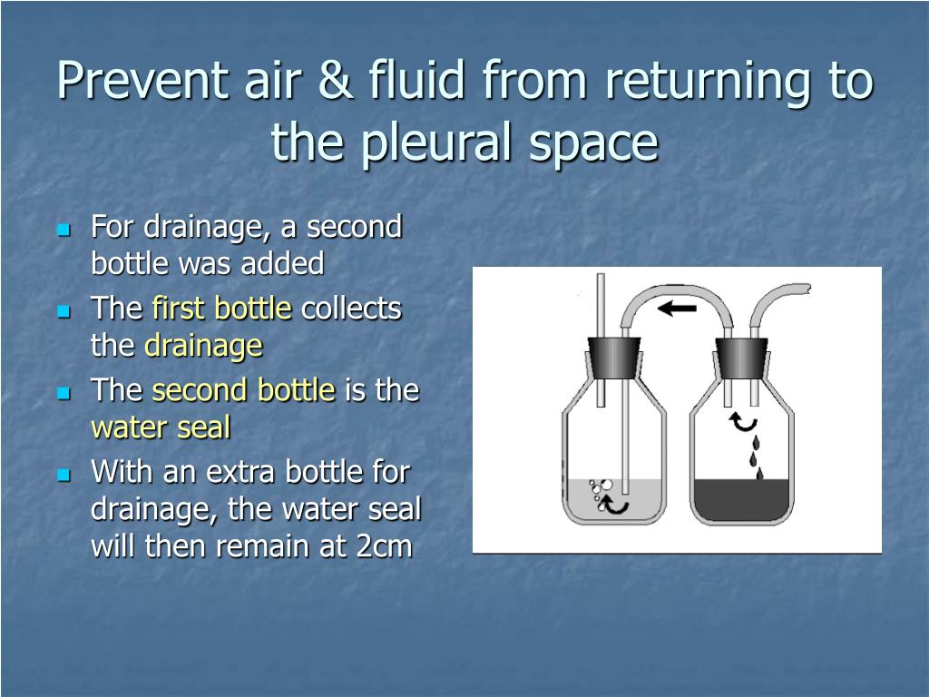 Prevent air & fluid from returning to the pleural space