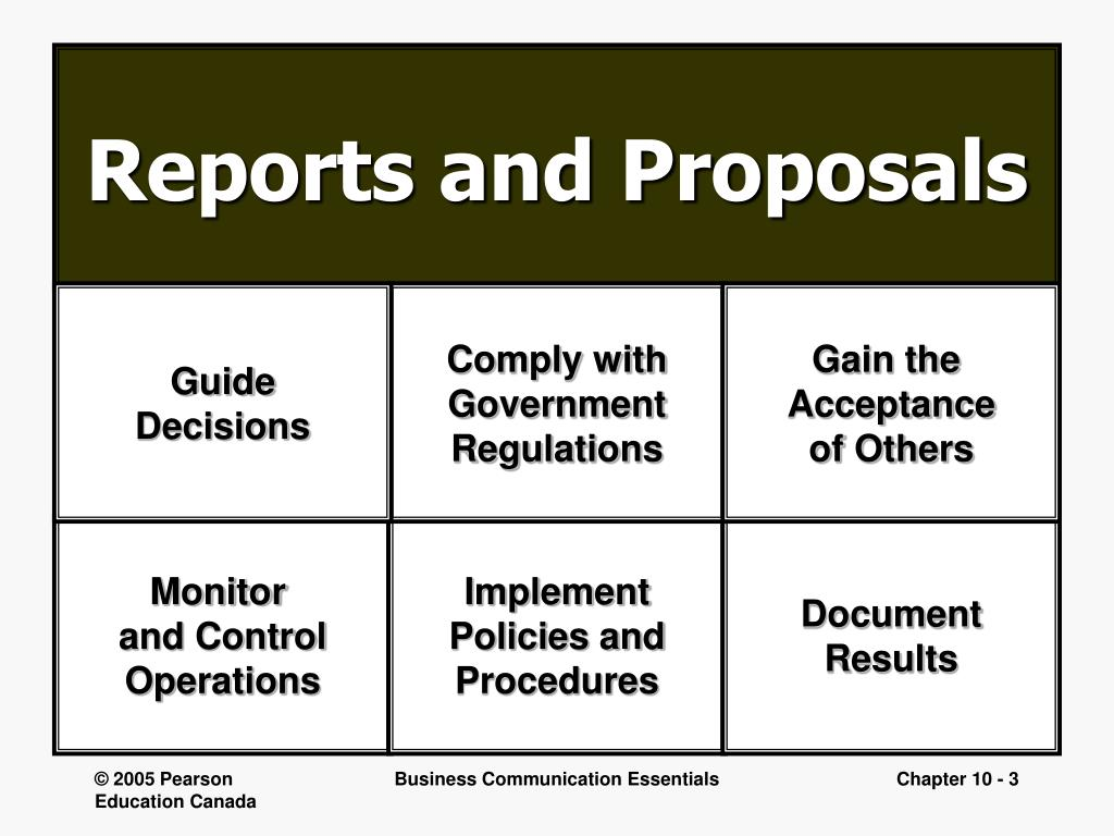 planning and writing business reports and proposals