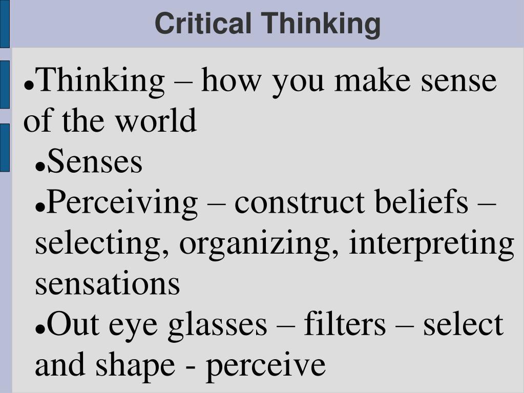 critical thinking l.