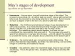 may s stages of development age salient not age dependent