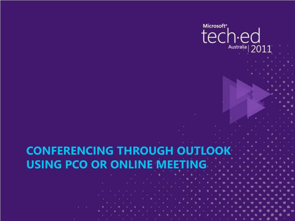 Conferencing Through Outlook