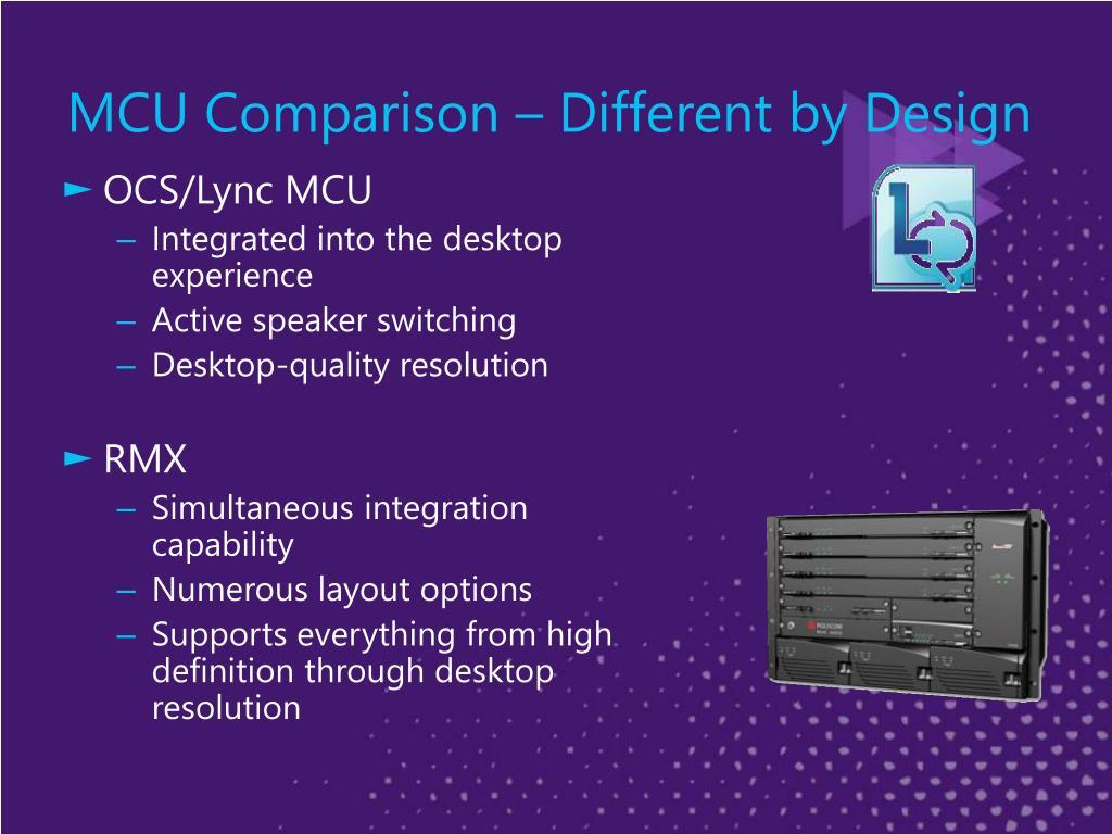 MCU Comparison – Different by Design