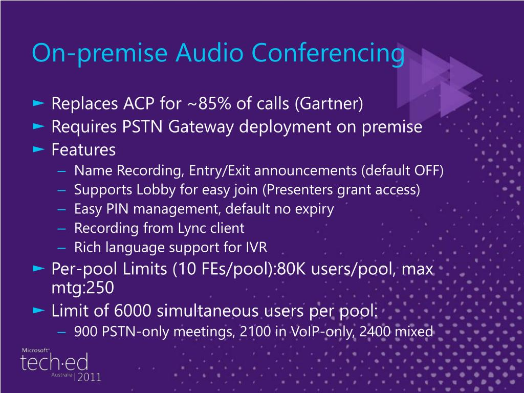 On-premise Audio Conferencing