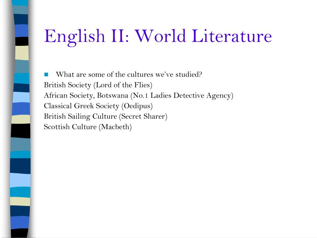 English II: World Literature