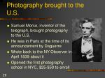 photography brought to the u s