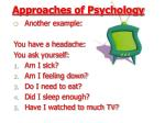 approaches of psychology18