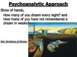 psychoanalytic approach27