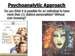 psychoanalytic approach28