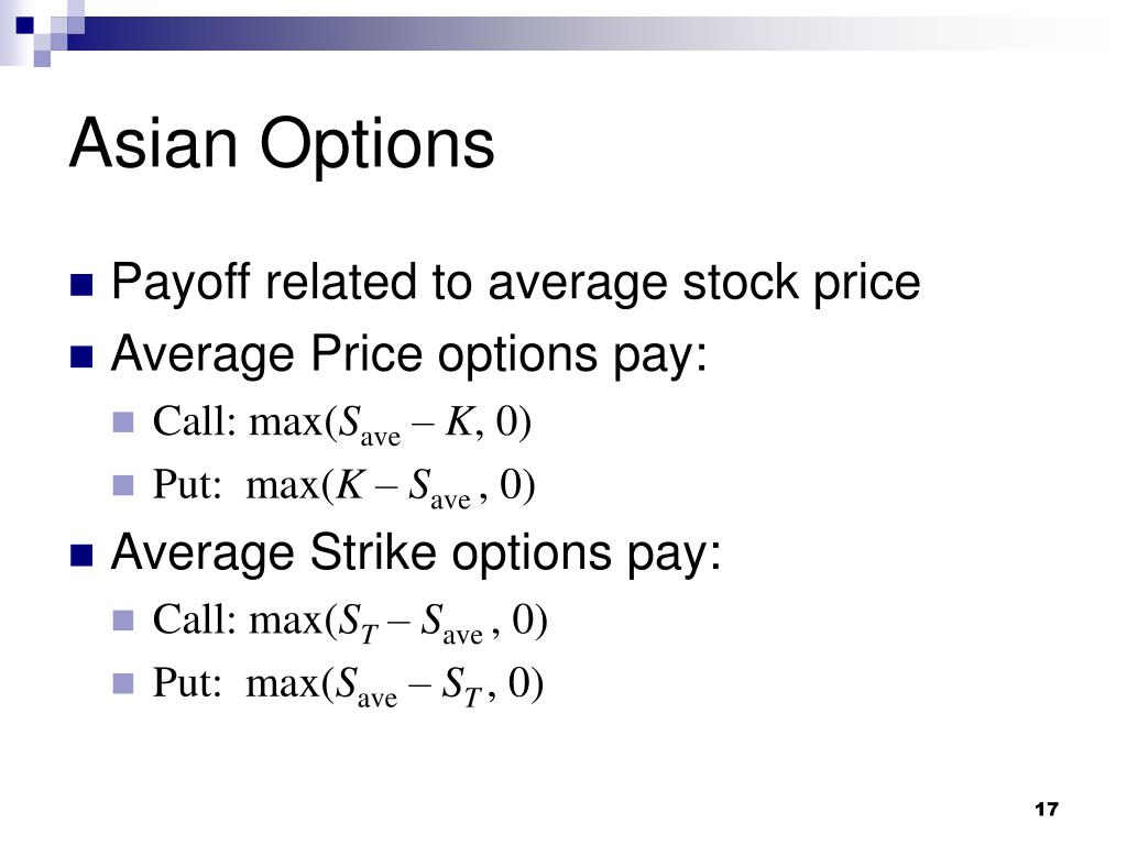 Asian Options