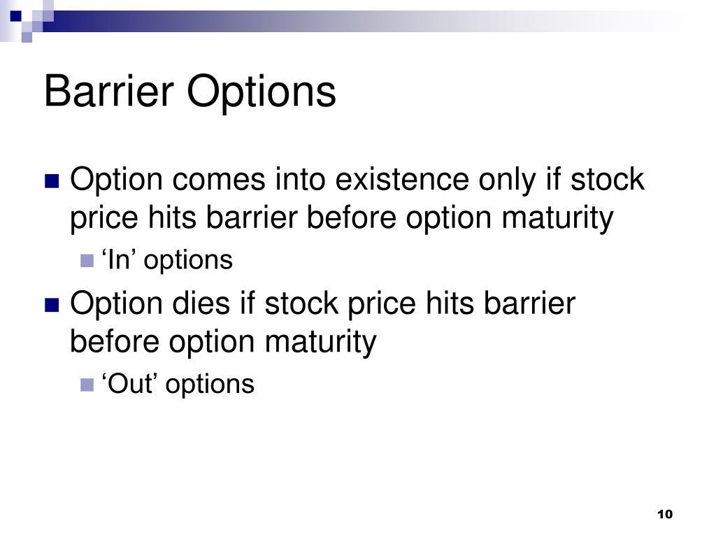 Barrier Options