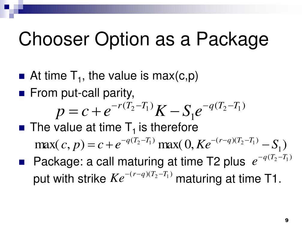 Chooser Option as a Package