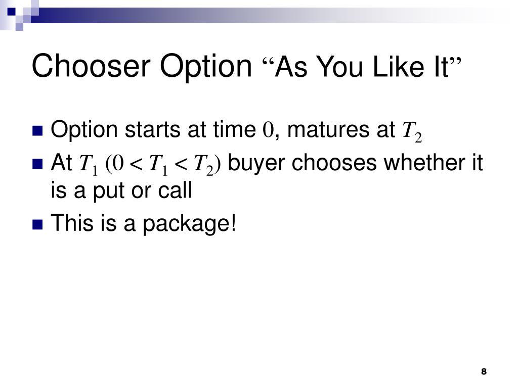 Chooser Option