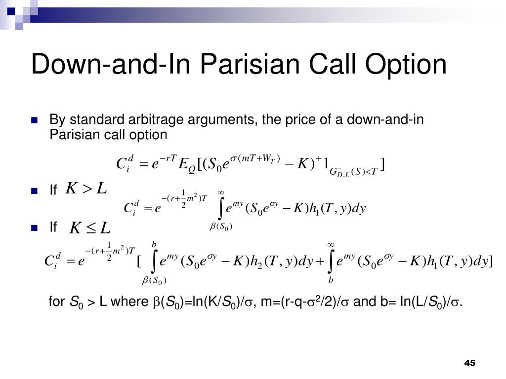 Down-and-In Parisian Call Option