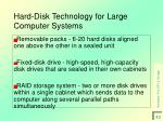 hard disk technology for large computer systems