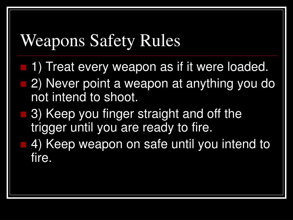 ppt - weapons safety rules powerpoint presentation