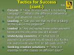 tactics for success cont