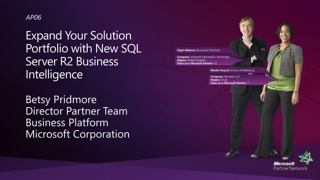 expand your solution portfolio with new sql server r2 business intelligence l.