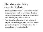 other challenges facing nonprofits include