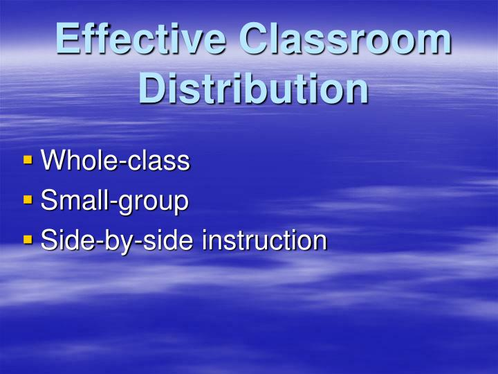 Effective classroom distribution