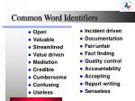 common word identifiers