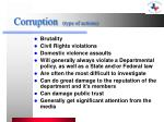corruption type of actions