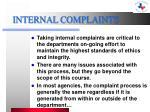 internal complaints