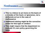 nonfeasance actions
