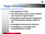 stages of the process