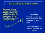 expanding square search11